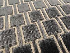 Kirkby Geometric Cut Velvet Upholstery Fabric Bakerloo Eclipse 1.20 yd K5096/09