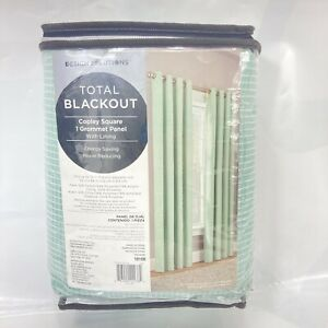 """DesignSolutions Total Blackout 1 Grommet Top Panel 52""""X84"""" Teal Green/White"""