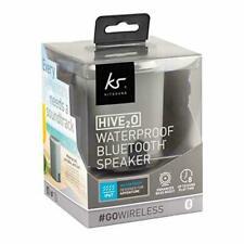 KitSound Hive2o Waterproof Bluetooth Speaker c/w Call Handling Grey - Brand New