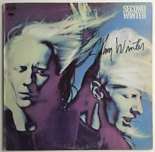 JOHNNY WINTER  signed autograph LP