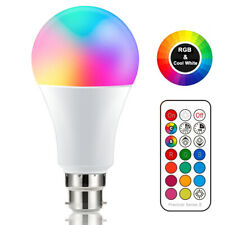 B22 Bayonet/E27 Edison 10W RGBW Cool/Warm White Colour Changing LED Light Bulb
