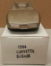1984 84 BRONZE CHEVY CORVETTE VETTE DEALER NOS AMT MPC PROMO PROMOTIONAL