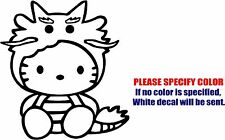 "Hello Kitty Dragon Costume Decal Sticker Funny Vinyl Car Window Bumper Truck 6"""