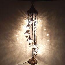 SPLENDIDA Palla 7 BELLISSIMA Turco Marocchino Tiffany Stile Lampada Da Terra Ottomano