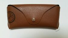 196852cd4a4e57 New Ray-Ban Brown Leather Sunglasses Glasses Case w  Bloomingdale s Sticker