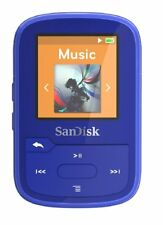 SanDisk Clip Sport Plus Wearable MP3 Player - Blue