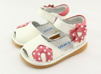 Freycoo Genuine Leather Kids Girls Shoes Sandals 6138WH sz: 5 6 7 8 9 10