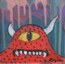 #3554-Wild creature monster acrylic paintings by George Kocar Red Monster