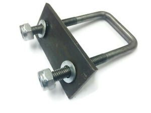 M12 Square U Bolts With Back Plates U-Bolt For Boat And Live Stock Trailers