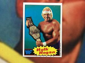 1985 Topps WWF Hulk Hogan #16 RC rookie blue background card