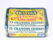 Crayons Crayola Collectors Colors Limited Edition Tin 72 Retired NEW Sealed