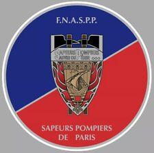 Autocollant STICKER SAPEURS POMPIERS DE PARIS F.N.A.S.P.P POMPIER 9 Cm