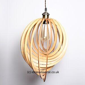 Modern Wooden Ceiling Pendant Light Shade Lampshade Home Lighting (38-49cm)