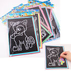 1/6/10Pcs Novelty Scratch Cardboard DIY Draw Sketch Notes Memo Pad for Kids TC