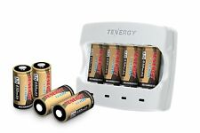 Tenergy Rechargeable Batteries & Charger for Arlo Cameras[8 Batteries + Charger]