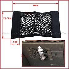 Universal Car Storage Bag Rear Seat Pocket Cargo Nets For i Phone X Pad - Black