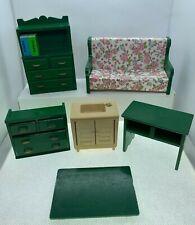 Vintage Sylvanian Families Desk /Bed/Sofa/ More Epoch Dollhouse 1985