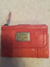 Fossil Long Live Vintage Coral Purse/ Wallet Brand New 2 Zip Coin Sections +card