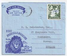 Rhodesia & Nyasaland 1959 Air Mail 3d Falls sg 24 Social History 27 Jun 1961