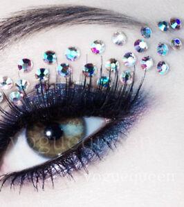 Face Gems Stick on 3D Jewels Festival Body Glitter Crystals Rhinestones Eye UK