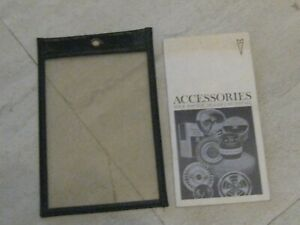 PONTIAC ACCESSORIES CATALOG WITH POUCH TEMPEST/LEMANS/GTO/FULL SIZE 1967.