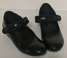 Girls Tap Shoes Freestyle Danskin Company Black Patent Leather  Size 10