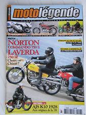 MOTO LEGENDE N° 218 /NORTON 750 S COMMANDO-LAVERDA 750 SF/SUZUKI GT 185/BULTACO