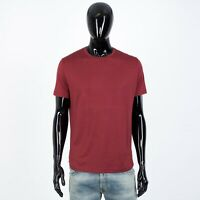 LORO PIANA 505$ Supersoft Crewneck Tshirt In Indian Red Silk & Cotton