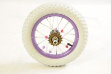 "12 ""BIKE REAR WHEEL +TYRE & TUBE RALEIGH MOLLY 12"" & OTHER 12"" KIDS BIKES LILAC"