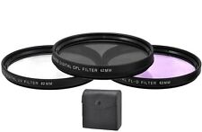 Xit 62mm Pro Series 3-Piece Glass Lens Filter Kit (Black)