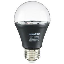 Sunlite LED A19 2W 120V E26 Luz Negro UV Base Mediana
