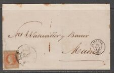 Spain 1860. Domestic folded cover.