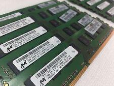 Micron Desktop Memory LOT 20GB 2GBx10 PC3-10600 2Rx8 DDR3-1333 MT16JTF25664AZ-1G