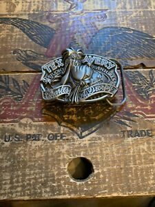 1992 Charles A. Droopy Tex Avery Brass Belt Buckle by Great American Buckle Co.