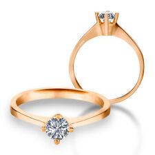 585 Gold Verlobungsring Antragsring Solitär Frauen Ring Zirkonia Brillant VJC02