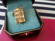 JUICY COUTURE VINTAGE Golden Chocolate Bar CHARM RARE and VHTF!!!