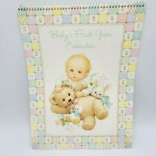 Ruth Morehead Baby 1st Year Calendar Current Inc Stickers Unisex Warm Whimsical