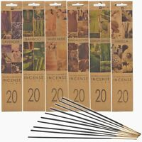 20 Wooden Incense Sticks Fragrance Scents Gift Diffuser Fragrance Flavours Home