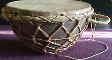 Big African Ethiopian Carved Wood Leather Ceremony Drum Ethiopia RARE