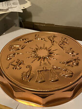 MIRRO Zodiac Astrology Horoscope Cake Pan Jell-O Mold Copper Color 12 Cup