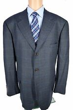 Brooks Brothers Loro Piana 100% Wool Sport Coat Jacket Blue Plaid Check 45R