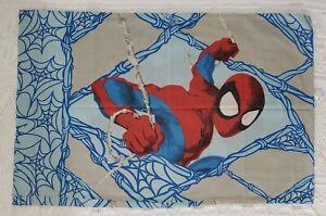 Spiderman Twin Flat Sheet & Pillow Case Set Vintage Marvel Cotton Blend *Flawed*
