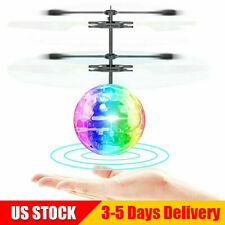 RC Flying Ball New RC Drone Helicopter Ball Built-in Disco Music W/ Shinning LED