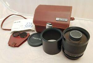 RMC Tokina TM500 500mm 1:8 Mirror Lens (Canon FD Mount)
