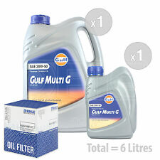 Engine Oil and Filter Service Kit 6 LITRES Gulf Multi G 20w-50 Engine Oil 6L