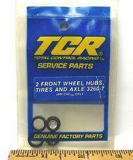 6pc TCR MK 1 JAM SLOT LESS Car TUNE UP KIT Front WHEEL HUBS TIRES & AXLES 3260-7