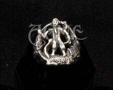 SWEENEY TODD Pinky Ring Sterling silver Depp cosplay replica skull razor