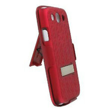 PRO-TECT Samsung Galaxy S3 Shell-Holster Combo Case with Kick Stand (Red)