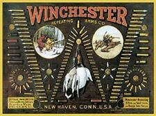 Winchester Repeating Arms Bullets Chart TIN SIGN Metal Vintage Gunshop Poster Ad