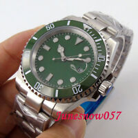40mm Green Face Men's Watch Sapphire Glass Luminous MIYOTA Automatic Movement